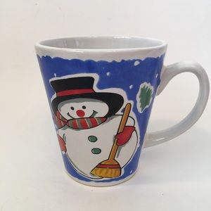 Christmas Holiday Snowman Coffee Mug 10oz